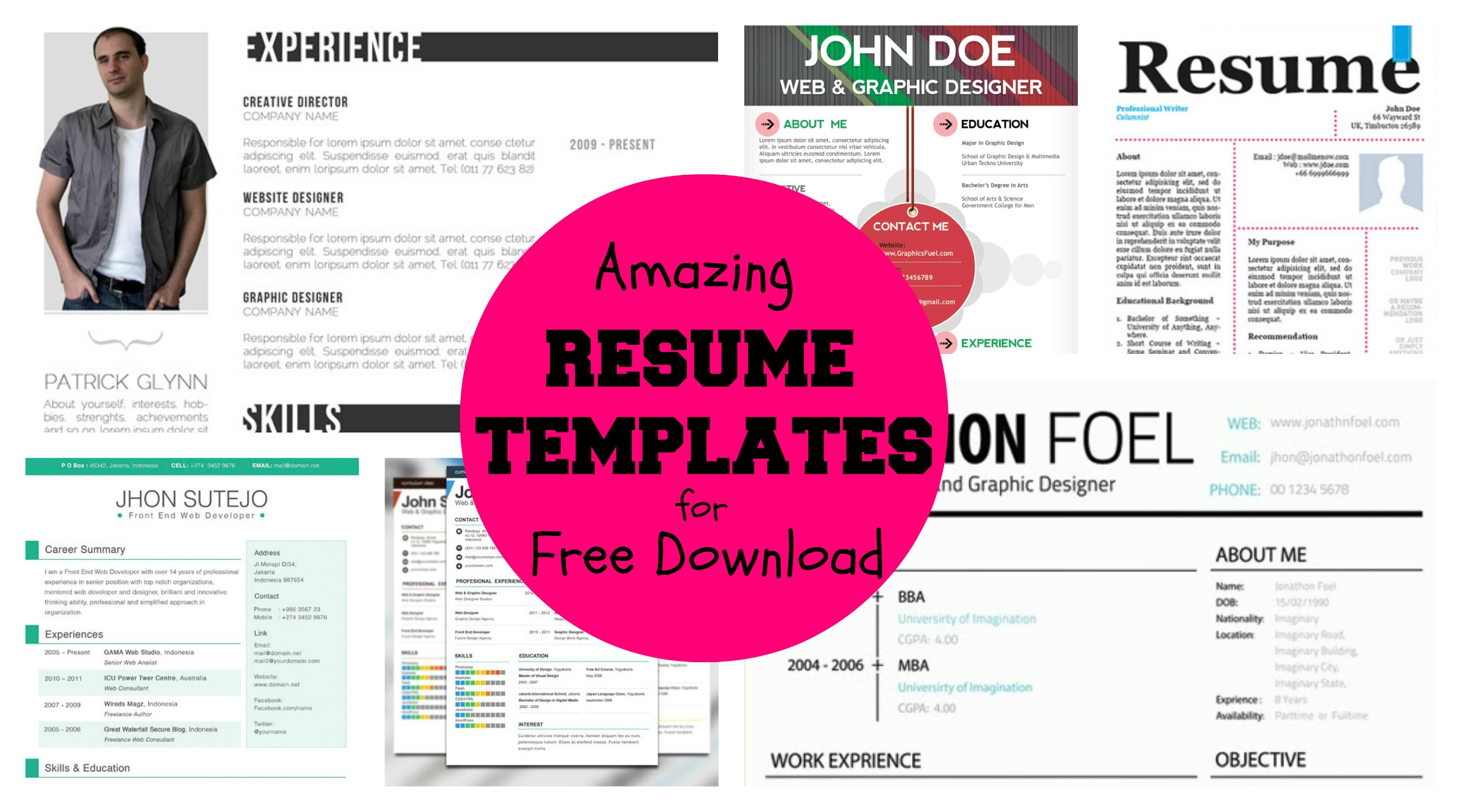 20  awesome designer resume templates for free download  u2013 kellology